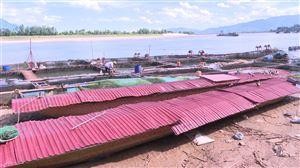 Thanh Thủy khắc phục thiệt hại cá lồng trên sông Đà