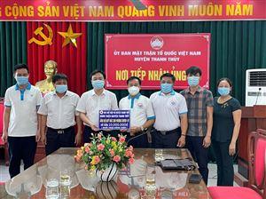 Ủy ban MTTQ huyện tiếp nhận ủng hộ phòng, chống dịch Covid-19.