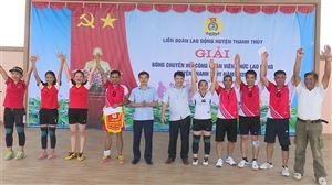 Đào Xá đạt giải Nhất giải bóng chuyền hơi CNVCLĐ năm 2020