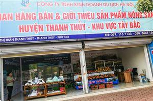 Khai trương gian bán hàng và giới thiệu sản phẩm hàng nông sản sạch huyện Thanh Thủy