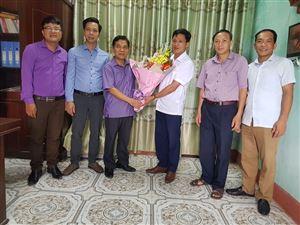 Phòng Văn hóa - Thông tin, Trung tâm VHTT&DL chúc mừng Đài TT-TH huyện nhân dịp kỷ niệm 95 năm Ngày Báo chí cách mạng Việt Nam