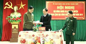 Hội đồng NVQS huyện Thanh Thủy giao lệnh gọi công dân nhập ngũ năm 2019