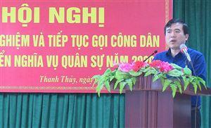 BCHQS huyện tổ chức hội nghị rút kinh nghiệm và tiếp tục gọi công dân khám tuyển NVQS năm 2020