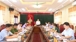 Hội nghị BTV Huyện ủy tháng 8 năm 2020