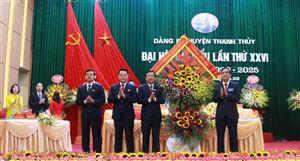 Đại hội đại biểu Đảng bộ huyện Thanh Thủy lần thứ XXVI, nhiệm kỳ 2020 - 2025 thành công tốt đẹp