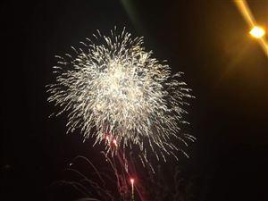 Bắn pháo hoa chào mừng kỷ niệm 186 năm thành lập và 20 năm Ngày tái lập huyện Thanh Thủy