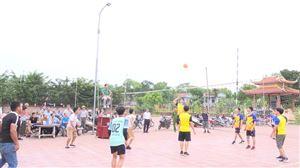 Khu 4 xã Thạch Đồng tổ chức giải bóng chuyền hơi nam nữ mở rộng