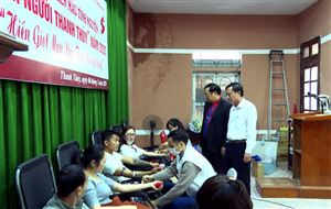 """Ngày hội hiến máu tình nguyện """"Tình người Thanh Thủy"""" năm 2020"""