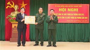 UBND huyện Thanh Thủy tổ chức hội nghị tổng kết công tác quốc phòng địa phương