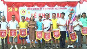 Khai mạc giải bóng chuyền hơi nam chào mừng kỷ niệm 89 năm Ngày thành lập Hội Nông dân Việt Nam