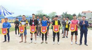 Đoàn Thanh niên xã Hoàng Xá khai mạc giải bóng chuyền da nam năm 2019