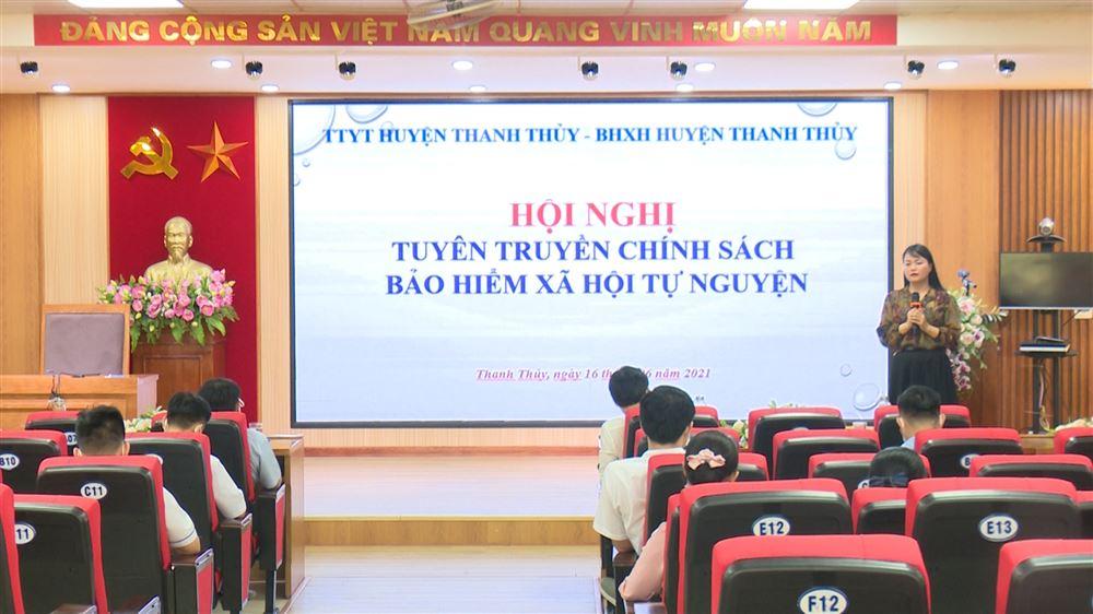 BHXH huyện Thanh Thủy tuyên truyền chính sách BHXH tự nguyện và BHYT hộ gia đình