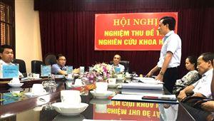 Hội nghị nghiệm thu đề tài nghiên cứu khoa học: Tạo lập, quản lý và phát triển nhãn hiệu tập thể cá lồng sông Đà huyện Thanh Thủy