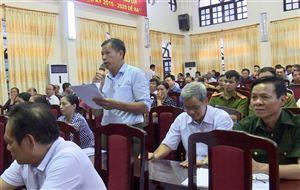 Đại biểu Quốc hội tỉnh tiếp xúc cử tri tại huyện Thanh Thủy