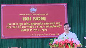 Đại biểu HĐND tỉnh tiếp xúc cử tri tại Tu Vũ và Thạch Đồng trước kỳ họp thứ XI, nhiệm kỳ 2016-2021