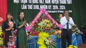 Uỷ ban MTTQ Việt Nam huyện Thanh Thủy tổ chức đại hội lần thứ XVIII, nhiệm kỳ 2019-2024