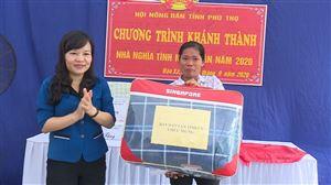 """Trao """"nhà nghĩa tình nông dân"""" cho hội viên nông dân Giang Thị Thu"""