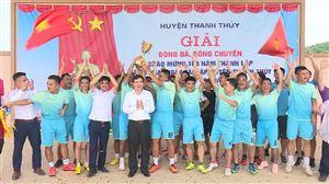 Bế mạc giải bóng đá, bóng chuyền chào mừng kỉ niệm 186 năm thành lập và 20 năm Ngày tái lập huyện Thanh Thủy