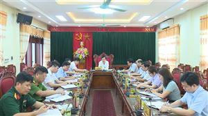 Hội nghị Ban Thường vụ Huyện ủy thường kỳ tháng 7/2020