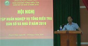 Ban Chỉ đạo Tổng điều tra dân số và nhà ở huyện tổ chức hội nghị tập huấn nghiệp vụ tổng điều tra dân số và nhà ở năm 2019.