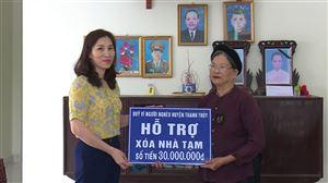 UB MTTQ huyện Thanh Thủy bàn giao nhà Đại đoàn kết tại xã Hoàng Xá