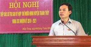 Đại biểu HĐND huyện khóa XIX tiếp xúc cử tri sau kỳ họp thứ Mười