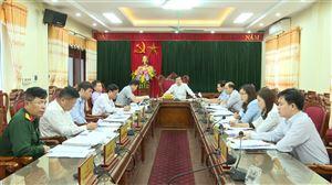 Hội nghị BTV Huyện ủy Thanh Thủy tháng 10 năm 2020