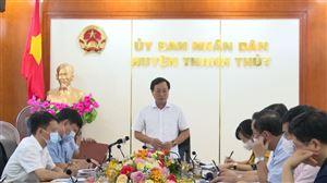 Đồng chí Chủ tịch UBND tỉnh Bùi Văn Quang làm việc với huyện Thanh Thủy về các dự án trọng điểm trên địa bàn huyện