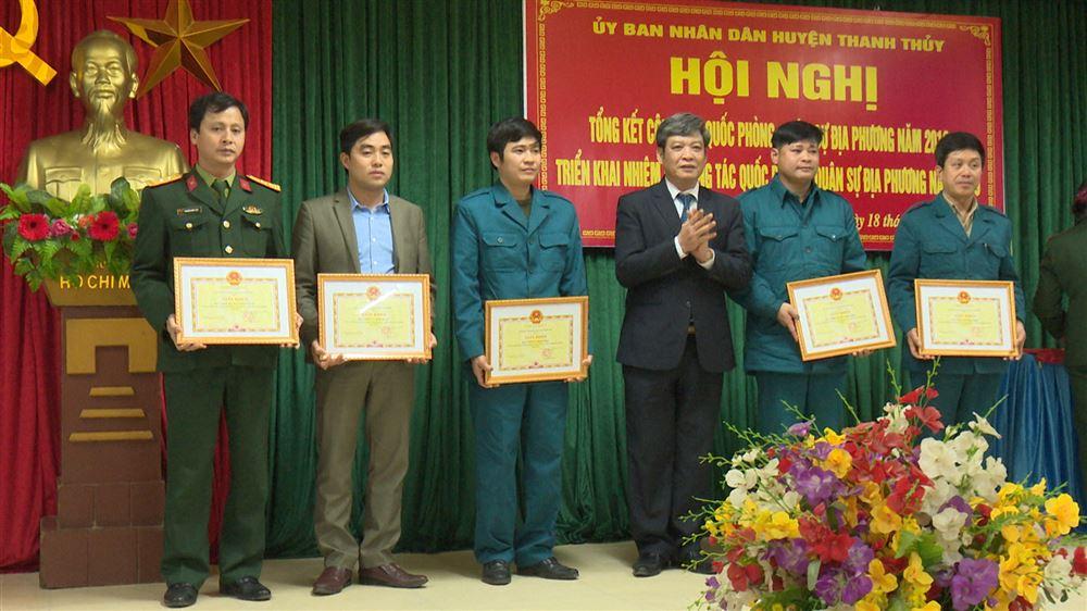 UBND huyện Thanh Thủy tổng kết công tác quốc phòng, quân sự năm 2018