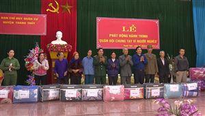 Ban Chỉ huy Quân sự huyện phát động hành trình Quân đội chung tay vì người nghèo tại xã Đào Xá