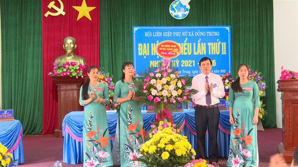 Hội LHPN xã Đồng Trung tổ chức Đại hội lần II nhiệm kỳ 2021 - 2026