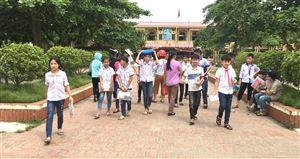 Trường THCS Thanh Thủy tổ chức thi đánh gia năng lực cho 201 học sinh chuẩn bị vào lớp 6
