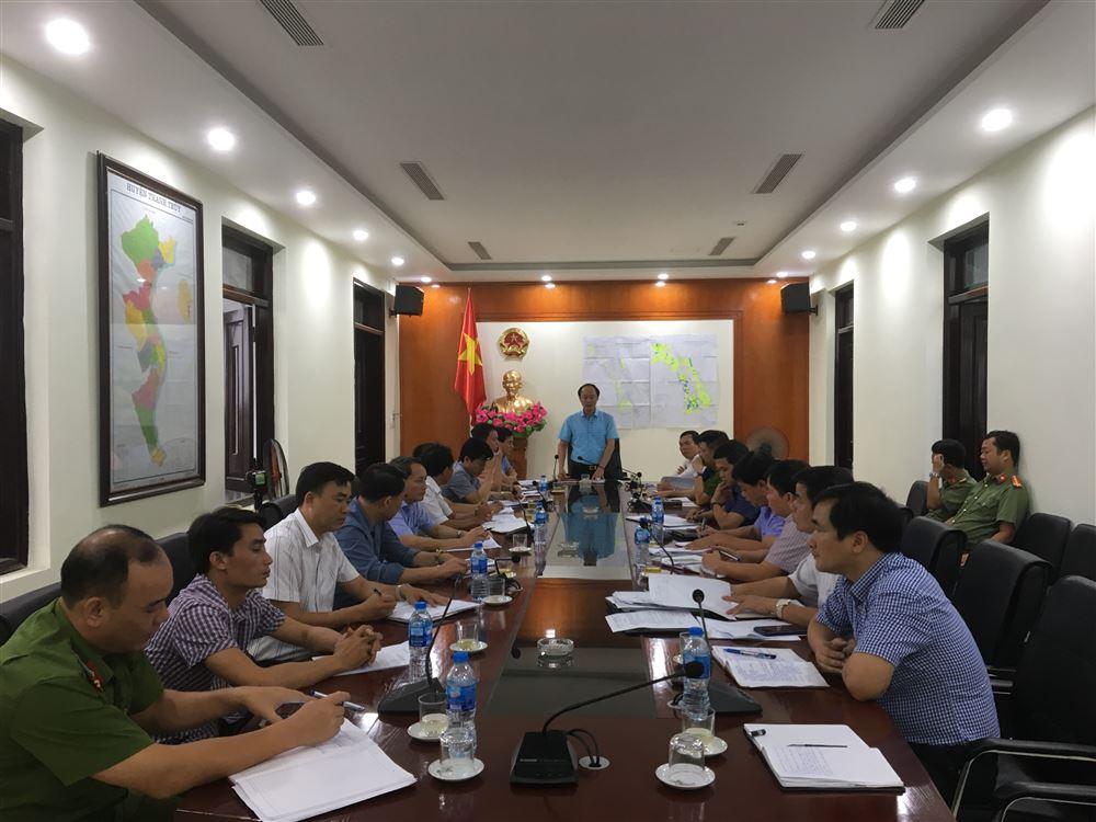 UBND huyện họp đánh giá tiến độ kết quả GPMB xây dựng khu dân cư NTM kiểu mẫu xã Hoàng Xá