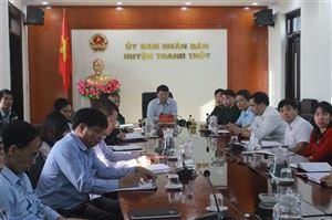 Thanh Thủy tổ chức hội nghị trực tuyến tập huấn về Luật dân quân tự  vệ và Luật dự bị động viên