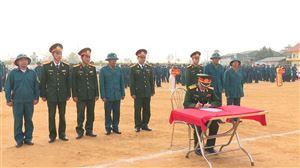 Ban Chỉ huy quân sự huyện tổ chức Lễ ra quân huấn luyện và phát động phong trào thi đua năm 2018