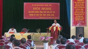 Đại biểu HĐND tỉnh tiếp xúc cử tri tại Thanh Thủy trước kỳ họp thứ Tám - khóa XVIII