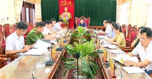 Hội nghị Ban Thường vụ Huyện uỷ thường kỳ tháng 6 năm 2020