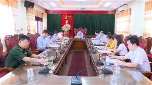 Hội nghị BTV Huyện ủy phiên bất thường cho ý kiến về dự án Trung tâm dưỡng lão Vietsing Thanh Thủy