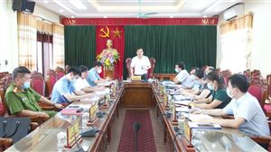 Hội nghị Ban Thường vụ Huyện ủy thường kỳ tháng 7 năm 2021
