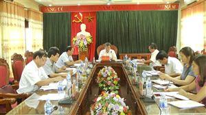 Ban Thường vụ Huyện ủy Thanh Thủy tổ chức hội nghị thường kì tháng 7 năm 2018