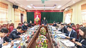 Hội nghị kiểm điểm Ban Thường vụ Huyện ủy