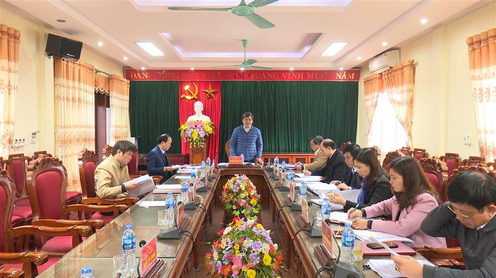 Hội nghị BTV Huyện ủy Thanh Thủy tháng 1 năm 2019