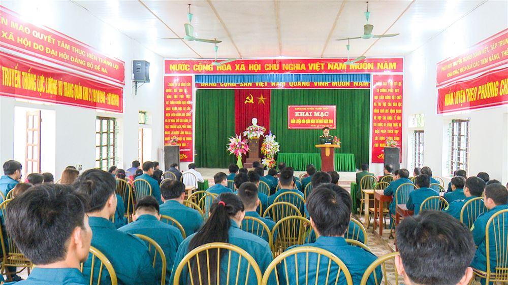 Ban CHQS huyện khai mạc huấn luyện dân quân năm thứ nhất năm 2019