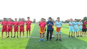 Giao lưu bóng đá giữa Công đoàn Khối Đảng - đoàn thể và Công đoàn Khối Chính quyền