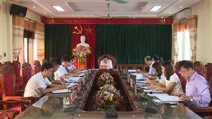 Hội nghị BTV Huyện ủy Thanh Thủy thường kỳ tháng 9 năm 2019