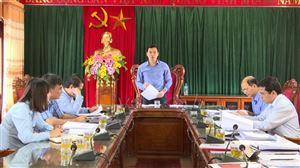 Kiểm tra công tác chuẩn bị Đại hội Đảng bộ xã Sơn Thủy và Trung tâm Y tế huyện