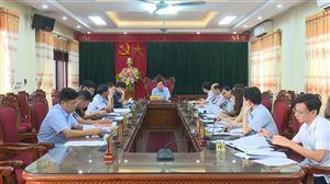 Thanh Thủy họp Ban Thường vụ Huyện ủy thường kỳ tháng 11/2020