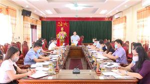 Thanh Thủy họp Ban Thường vụ Huyện ủy tháng 5