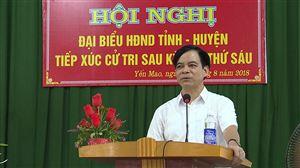 Đại biểu HĐND tỉnh tiếp xúc cử tri sau kỳ họp thứ VI khóa XVIII tại huyện Thanh Thủy