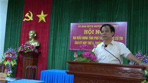 Đại biểu HĐND tỉnh, huyện tiếp xúc cử tri sau kỳ họp thứ Mười
